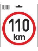 Samolepka 110 km/h, průměr 150 mm