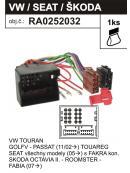 ISO adaptér AUDI,VW, SEAT, ŠKODA