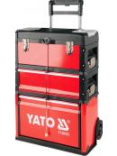 YATO Vozík na nářadí 3 sekce, 1 zásuvka, YT-09102