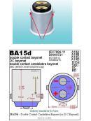 LED BA15d (jednovlákno) bílá, 12-24V, 30LED/4014SMD, 1ks