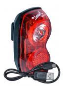 blikačka SMART zadní 321R USB 1x0,5W červená LED