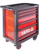 YATO Skříňka dílenská pojízdná s nářadím (177ks) 6 zásuvek, YT-5530
