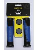 gripy WAG double D černo/modré 125mm