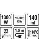 LUND Napařovač oděvů 1300W, TO-67230