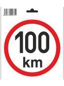 Samolepka 100 km/h, průměr 150 mm