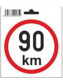 Samolepka  90 km/h, průměr 110 mm