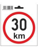Samolepka  30 km/h, průměr 110 mm