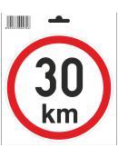 Samolepka  30 km/h, průměr 150 mm