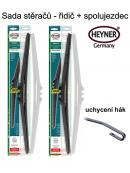 Stěrače sada HEYNER HYBRID 600 + 350mm