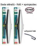 Stěrače sada HEYNER HYBRID 600 + 600mm