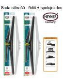 Stěrače sada HEYNER HYBRID 650 + 650mm + adaptér SA30012