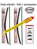 Stěrače sada HEYNER ALL SEASON 600 + 480mm + adaptér SA30032