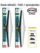 Stěrače sada HEYNER HYBRID 600 + 450mm + adaptér SA30042