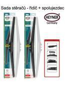 Stěrače sada HEYNER HYBRID 500 + 500mm + adaptér SA30032
