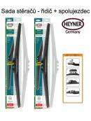 Stěrače sada HEYNER HYBRID 530 + 530mm + adaptér SA30012