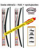 Stěrače sada HEYNER ALL SEASON 580 + 450mm + adaptér SA30012