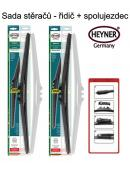 Stěrače sada HEYNER HYBRID 500 + 480mm + adaptér SA30032