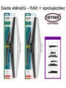 Stěrače sada HEYNER HYBRID 650 + 530mm + adaptér SA30072