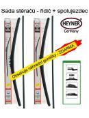 Stěrače sada HEYNER ALL SEASON 650 + 350mm + adaptér SA30022