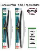 Stěrače sada HEYNER HYBRID 650 + 650mm + adaptér SA30022