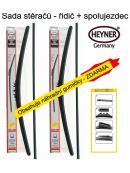Stěrače sada HEYNER ALL SEASON 700 + 700mm + adaptér SA30042