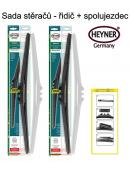 Stěrače sada HEYNER HYBRID 700 + 700mm + adaptér SA30042