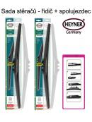 Stěrače sada HEYNER HYBRID 600 + 600mm + adaptér SA30052