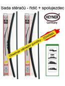 Stěrače sada HEYNER ALL SEASON 600 + 500mm + adaptér SA30022