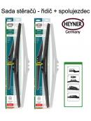 Stěrače sada HEYNER HYBRID 600 + 500mm + adaptér SA30022
