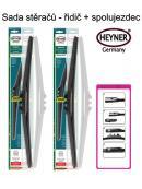 Stěrače sada HEYNER HYBRID 530 + 530mm + adaptér SA30052