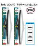 Stěrače sada HEYNER HYBRID 650 + 650mm + adaptér SA30062
