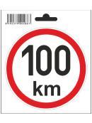 Samolepka 100 km/h, průměr 110 mm