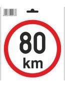 Samolepka  80 km/h, průměr 150 mm
