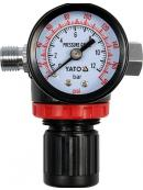 "YATO Regulátor tlaku vzduchu 1/4"", max. 1,2MPa, YT-2381"