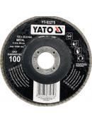 YATO Kotouč lamelový brusný na kov 125x22,4mm P100, YT-83275