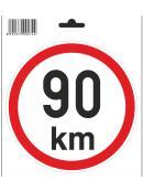 Samolepka  90 km/h, průměr 150 mm