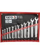 YATO Sada klíčů očkoplochých 12ks 8-24 mm, YT-0362