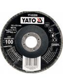 YATO Kotouč lamelový korundový 125 x 22,2 mm vypouklý brusný P120, YT-83296