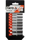 """YATO Sada nástavců 1/4"""" šetihranné 8ks 5,5-13 mm, YT-14431"""