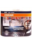 12V H1 55W P14,5s +110% OSRAM Night Breaker Unlimited, sada 2ks